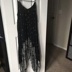 Black & White Handkerchief Style Sleeveless Dress